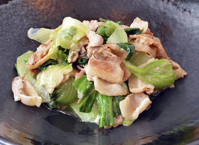 豚肉とレタスのマヨネーズ炒め